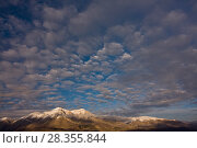 Купить «Clouds over Mount Velino, the second highest in the Apennines. Abruzzo, Central Apennines, Italy, December.», фото № 28355844, снято 29 мая 2020 г. (c) Nature Picture Library / Фотобанк Лори