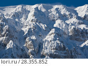 Купить «The steep northern slope of Mount Sirente covered in snow. Sirente-Velino Regional Park, Abruzzo, Italy, March.», фото № 28355852, снято 21 августа 2018 г. (c) Nature Picture Library / Фотобанк Лори