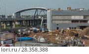 Купить «Timelapse of works at construction site in Sheremetyevo Airport, Moscow», видеоролик № 28358388, снято 11 сентября 2017 г. (c) Данил Руденко / Фотобанк Лори