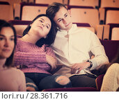 Couple watching movie. Стоковое фото, фотограф Яков Филимонов / Фотобанк Лори