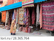 Купить «Carpets, Souk, Market, Medina, UNESCO World Heritage Site, Marrakesh (Marrakech), Morocco, North Africa, Africa», фото № 28365764, снято 23 марта 2017 г. (c) age Fotostock / Фотобанк Лори