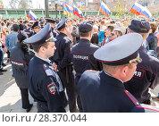 Купить «Opposition protest rally ahead of President Vladimir Putin's inauguration ceremony», фото № 28370044, снято 5 мая 2018 г. (c) FotograFF / Фотобанк Лори