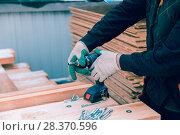 Купить «The Builder's Hands», фото № 28370596, снято 6 мая 2018 г. (c) Андрей Кузнецов / Фотобанк Лори