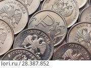 Купить «Российские монеты крупным планом», эксклюзивное фото № 28387852, снято 7 мая 2018 г. (c) Юрий Морозов / Фотобанк Лори