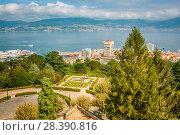 Купить «City park in Vigo, Galicia, Spain. Sunny day in summer», фото № 28390816, снято 25 мая 2019 г. (c) Сергей Цепек / Фотобанк Лори