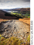 Купить «Storm Desmond wreaked havoc across Cumbria with floods and destruction. The super saturated ground failed in many places leaving landslip scars on many...», фото № 28393600, снято 25 мая 2018 г. (c) Nature Picture Library / Фотобанк Лори