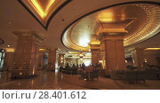 Interior of Presidential Hotel Emirates Palace in Abu Dhabi stock footage video (2018 год). Редакционное видео, видеограф Юлия Машкова / Фотобанк Лори