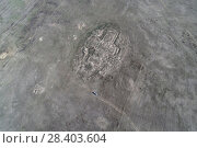 Купить «Руины Кондуйского дворца, съемка с коптера», фото № 28403604, снято 12 мая 2018 г. (c) Геннадий Соловьев / Фотобанк Лори