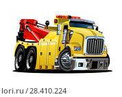 Купить «Cartoon tow truck», иллюстрация № 28410224 (c) Александр Володин / Фотобанк Лори