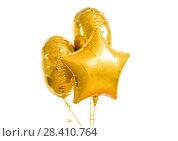 Купить «close up of helium balloons over white background», фото № 28410764, снято 6 марта 2018 г. (c) Syda Productions / Фотобанк Лори