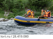 Купить «Сплав по реке», фото № 28419080, снято 15 июля 2016 г. (c) А. А. Пирагис / Фотобанк Лори
