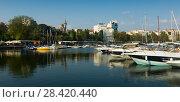 Купить «Port of Constanta, Romania», фото № 28420440, снято 20 сентября 2017 г. (c) Яков Филимонов / Фотобанк Лори