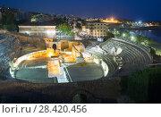 Купить «ancient amphitheater in night time. Tarragona», фото № 28420456, снято 26 мая 2020 г. (c) Яков Филимонов / Фотобанк Лори