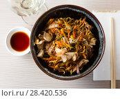 Купить «nicely served yakisoba», фото № 28420536, снято 15 ноября 2018 г. (c) Яков Филимонов / Фотобанк Лори