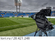 Tv camera in the football. Стоковое фото, фотограф Maxim Tarasyugin / Фотобанк Лори