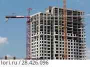 Купить «Строительство нового жилого комплекса на границе с Москвой в районе Мякинино (2018 год)», эксклюзивное фото № 28426096, снято 13 мая 2018 г. (c) Дмитрий Неумоин / Фотобанк Лори