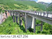 Купить «Мост Джурджевича над рекой Тара в Черногории», фото № 28427256, снято 6 июня 2017 г. (c) Рябков Александр / Фотобанк Лори