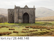 Купить «Hermitage Castle, Newcastleton, Roxburghshire, Scottish Borders, Scotland, built in the 14th and 15th centuries, located in the debatable lands between England and Scotland. United Kingdom, Europe.», фото № 28448148, снято 18 апреля 2018 г. (c) age Fotostock / Фотобанк Лори