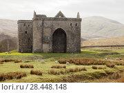 Купить «Hermitage Castle, Newcastleton, Roxburghshire, Scottish Borders, Scotland, built in the 14th and 15th centuries, located in the debatable lands between England and Scotland. United Kingdom, Europe.», фото № 28448148, снято 18 апреля 2018 г. (c) age Fotostock / Фотобанк Лори