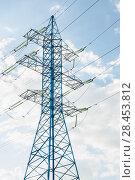 Купить «Опора линии электропередачи (ЛЭП)», фото № 28453812, снято 13 мая 2018 г. (c) Алёшина Оксана / Фотобанк Лори