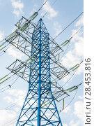 Купить «Опора линии электропередачи (ЛЭП)», фото № 28453816, снято 13 мая 2018 г. (c) Алёшина Оксана / Фотобанк Лори