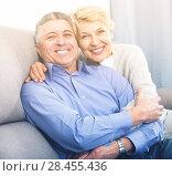 Купить «Mature friends are happy», фото № 28455436, снято 16 августа 2018 г. (c) Яков Филимонов / Фотобанк Лори
