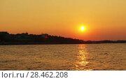 Купить «Beautiful sunset in town of Nessebar, Bulgaria», видеоролик № 28462208, снято 1 сентября 2016 г. (c) BestPhotoStudio / Фотобанк Лори