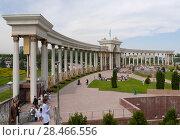 Купить «Арка парка первого президента республики Казахстан в Алмате», фото № 28466556, снято 21 мая 2018 г. (c) Максим Гулячик / Фотобанк Лори