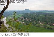 Купить «Национальный парк Саксонская Швейцария. Германия.», фото № 28469208, снято 3 мая 2018 г. (c) Воробьева Анна / Фотобанк Лори