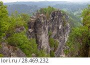 Купить «Национальный парк Саксонская Швейцария. Германия.», фото № 28469232, снято 3 мая 2018 г. (c) Воробьева Анна / Фотобанк Лори