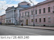 Москва, улица Солянка, дом 14, строение 3. Здание Опекунского совета (2014 год). Стоковое фото, фотограф Dmitry29 / Фотобанк Лори