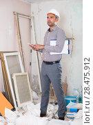 Купить «constructor with telephone», фото № 28475912, снято 18 мая 2017 г. (c) Яков Филимонов / Фотобанк Лори
