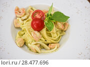 Купить «Penne pasta with salmon fish», фото № 28477696, снято 29 июля 2015 г. (c) Jan Jack Russo Media / Фотобанк Лори