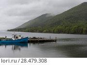 Купить «Fishing trawler moored at dock, Englishtown, Cape Breton Island, Nova Scotia, Canada», фото № 28479308, снято 12 июня 2016 г. (c) Ingram Publishing / Фотобанк Лори