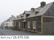 Купить «Houses by main street, Fortress of Louisbourg, Louisbourg, Cape Breton Island, Nova Scotia, Canada», фото № 28479336, снято 13 июня 2016 г. (c) Ingram Publishing / Фотобанк Лори