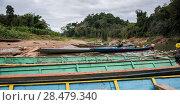 Купить «Boats on Nam Khan riverbank, Luang Prabang, Laos», фото № 28479340, снято 16 декабря 2016 г. (c) Ingram Publishing / Фотобанк Лори