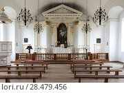 Купить «Inside view of church at the Fortress of Louisbourg, Louisbourg, Cape Breton Island, Nova Scotia, Canada», фото № 28479456, снято 13 июня 2016 г. (c) Ingram Publishing / Фотобанк Лори