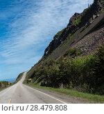 Купить «Scenic view of a coastal road, Cabot Trail, Cape Breton Highlands National Park, Cape Breton Island, Nova Scotia, Canada», фото № 28479808, снято 12 июня 2016 г. (c) Ingram Publishing / Фотобанк Лори