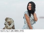 Купить «Portrait of the beautiful girl on beach closeup», фото № 28480316, снято 22 июня 2014 г. (c) Ingram Publishing / Фотобанк Лори