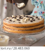 Купить «Unrecognizable Woman Cooking at home. Dessert Concept. Healthy Lifestyle. Cooking At Home. Prepare Food», фото № 28483060, снято 1 декабря 2014 г. (c) Ingram Publishing / Фотобанк Лори