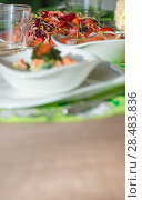 Купить «Beetroot salad on table at cafe», фото № 28483836, снято 12 октября 2013 г. (c) Ingram Publishing / Фотобанк Лори