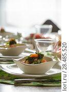 Купить «Caviar salad on table at restaurant», фото № 28485520, снято 12 октября 2013 г. (c) Ingram Publishing / Фотобанк Лори