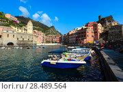 Купить «Vernazza quay, Cinque Terre», фото № 28489564, снято 25 июня 2017 г. (c) Юрий Брыкайло / Фотобанк Лори