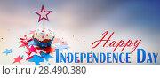 Купить «cupcake with star on american independence day», фото № 28490380, снято 28 мая 2015 г. (c) Syda Productions / Фотобанк Лори