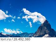 Купить «Alps Matterhorn mountain summer landscape», фото № 28492380, снято 21 сентября 2019 г. (c) Ingram Publishing / Фотобанк Лори