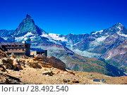 Купить «Alps Matterhorn mountain summer landscape», фото № 28492540, снято 21 сентября 2019 г. (c) Ingram Publishing / Фотобанк Лори