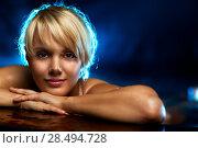 Купить «Young woman water studio portrait», фото № 28494728, снято 29 сентября 2013 г. (c) Ingram Publishing / Фотобанк Лори