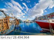 Купить «Denia Alicante port with blue summer sky in Spain at Valencian community», фото № 28494964, снято 18 января 2019 г. (c) Ingram Publishing / Фотобанк Лори