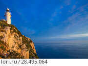 Купить «Denia Javea San Antonio Cape Mediterranean Lighthouse in Alicante Province Spain», фото № 28495064, снято 8 мая 2013 г. (c) Ingram Publishing / Фотобанк Лори