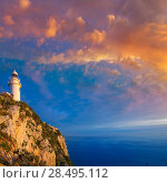 Купить «Denia Javea San Antonio Cape Mediterranean Lighthouse in Alicante Province Spain», фото № 28495112, снято 8 мая 2013 г. (c) Ingram Publishing / Фотобанк Лори